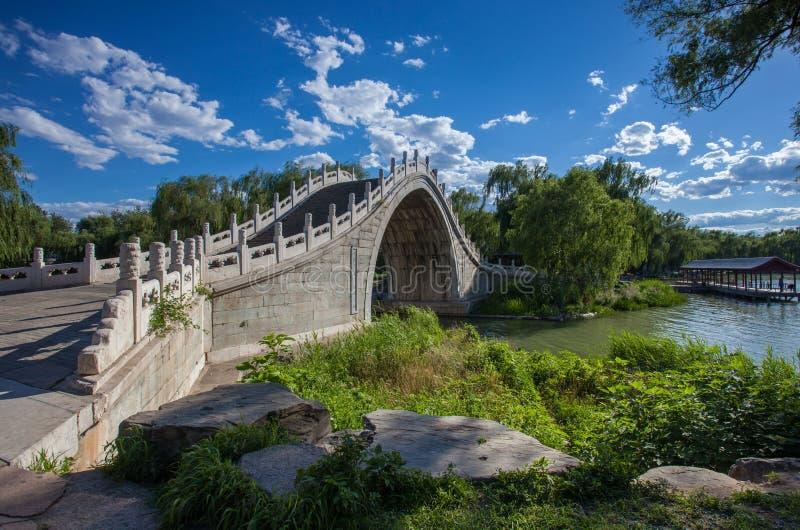 De zomerpaleis, de brug van de steenboog royalty-vrije stock afbeeldingen