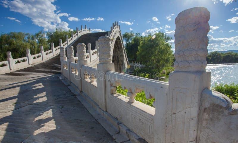 De zomerpaleis, de brug van de steenboog royalty-vrije stock foto's