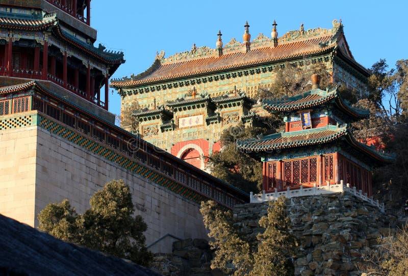 De zomerpaleis Peking royalty-vrije stock afbeeldingen