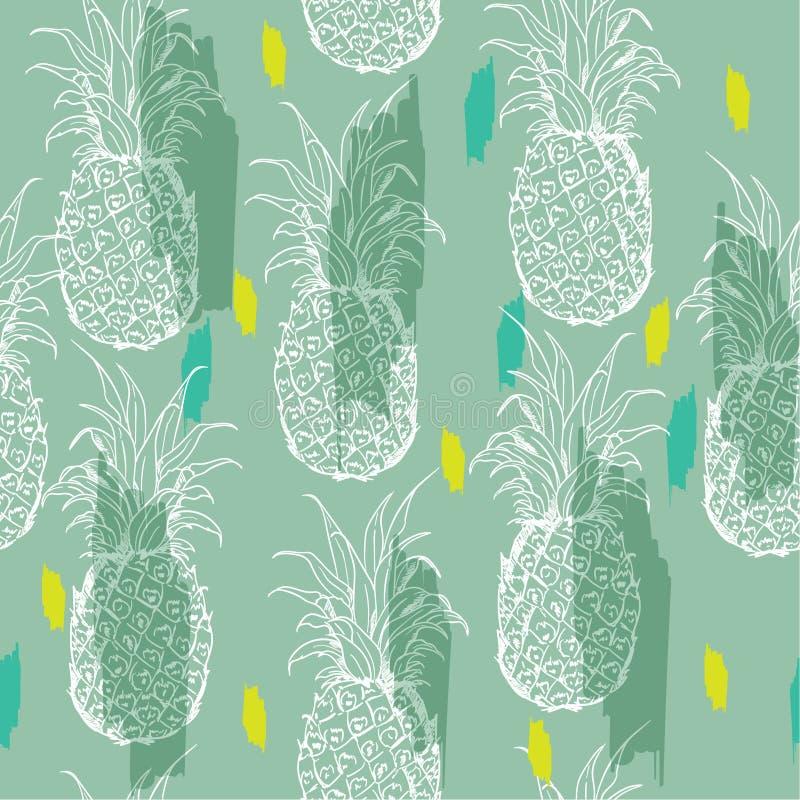 De zomerpastelkleur en helder de zomer Exotisch naadloos patroon met sil royalty-vrije illustratie