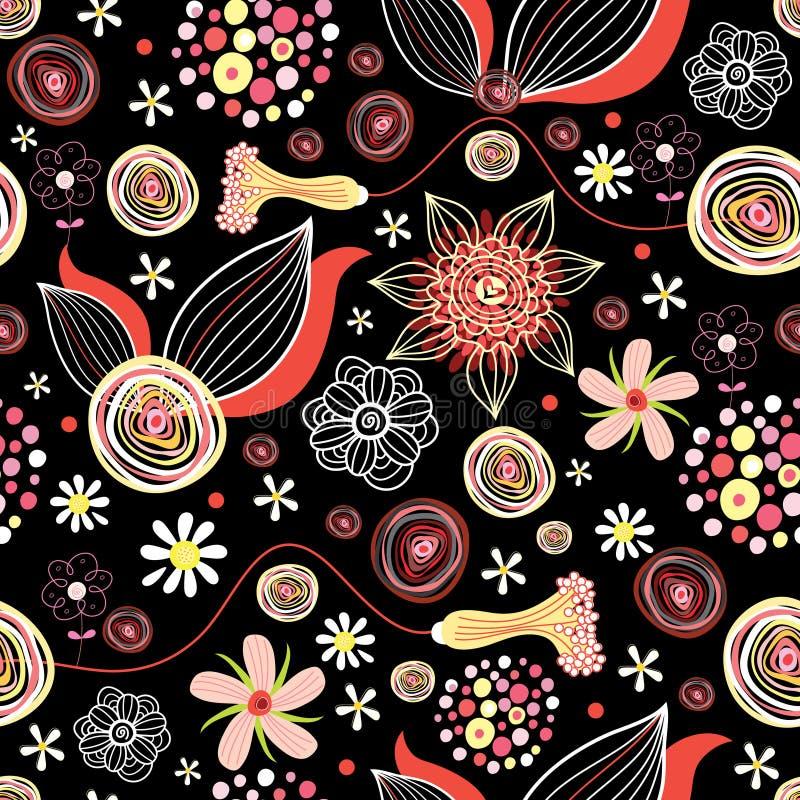 De zomerpatroon van de bloem royalty-vrije illustratie