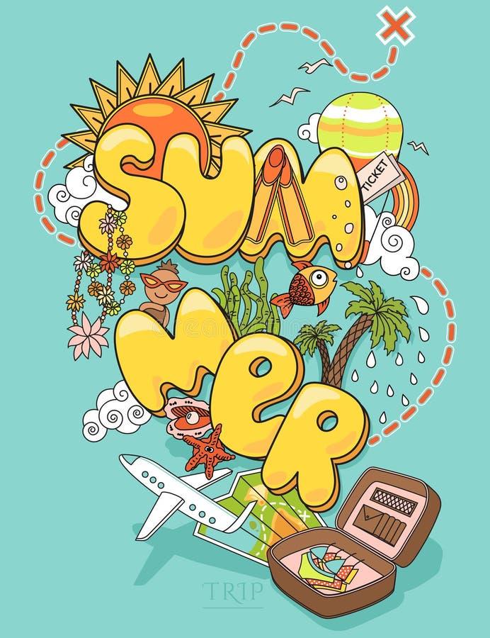 De zomerreis vector illustratie