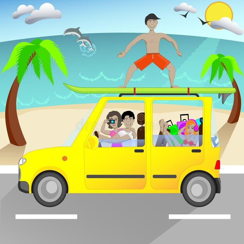 De zomerreis stock illustratie