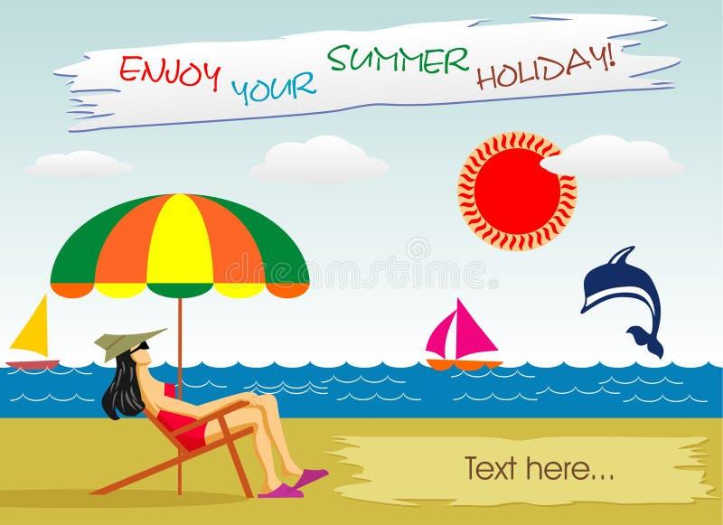 De zomerroeping op de kust vector illustratie
