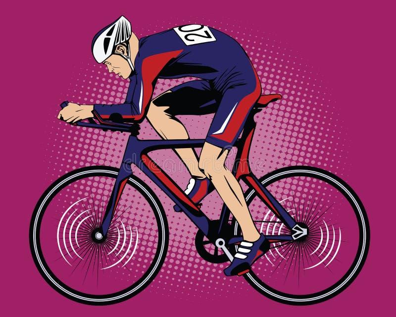 De zomersoorten sporten cycling royalty-vrije illustratie