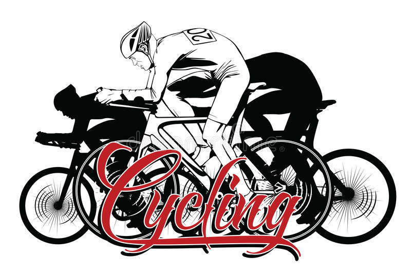 De zomersoorten sporten cycling vector illustratie