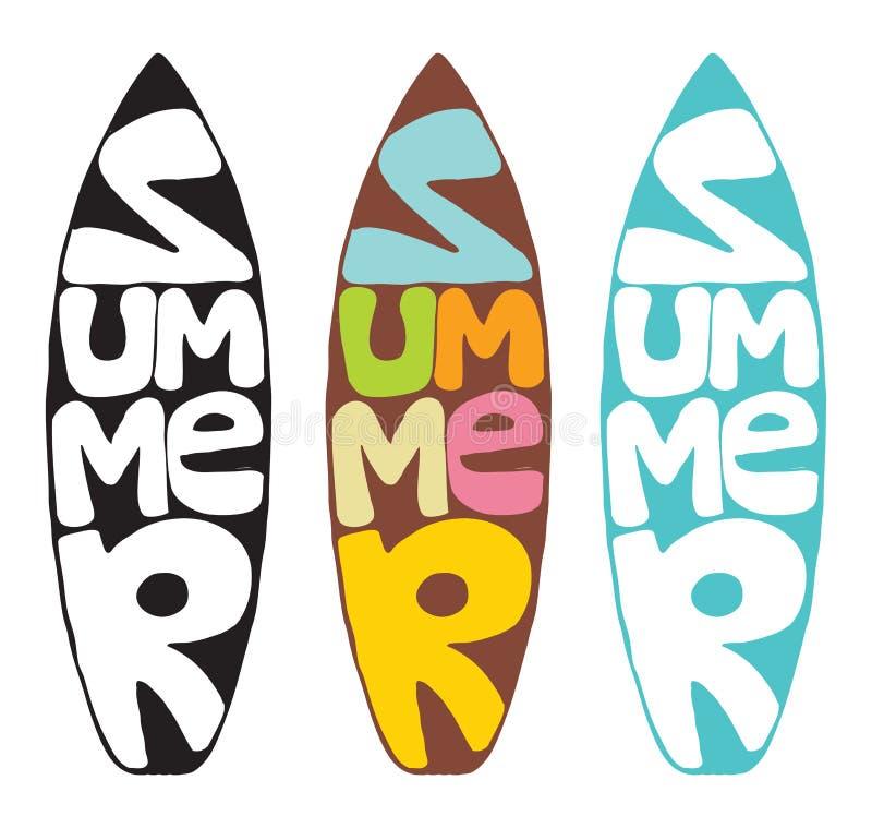 De zomersurfplank vector illustratie