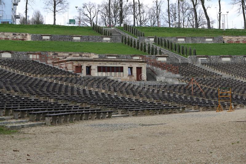 De zomertheater - amfitheater royalty-vrije stock afbeelding