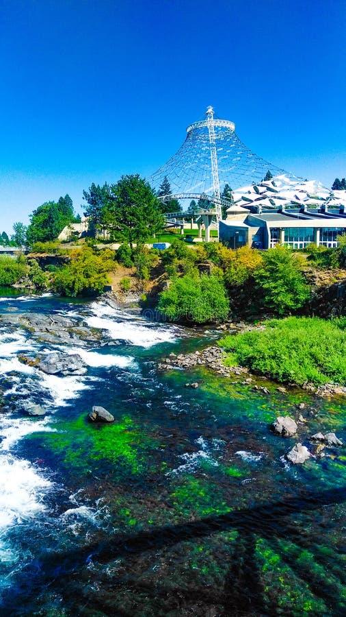 De zomertijd in riverfrontpark Spokane Washington royalty-vrije stock foto