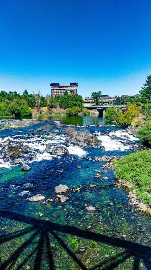 De zomertijd in riverfrontpark Spokane Washington royalty-vrije stock afbeelding
