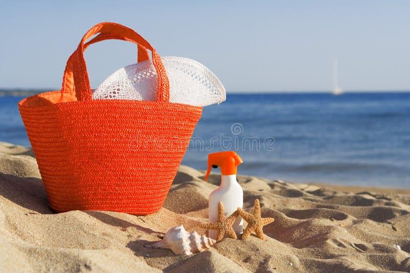 De zomervakantie van het strand stock afbeelding