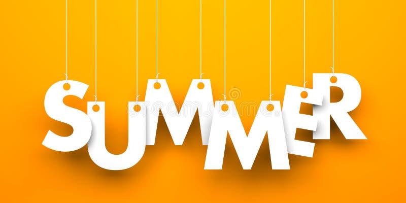 De zomerwoord die op koorden hangen stock illustratie