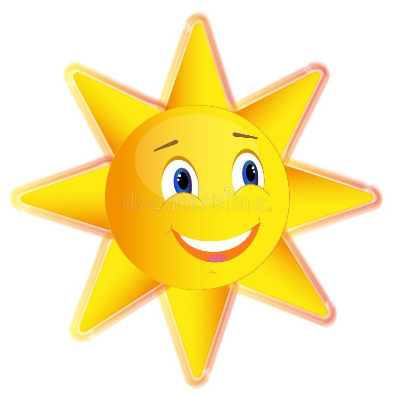 De zomerzon die pret gele mooi glimlachen stock foto