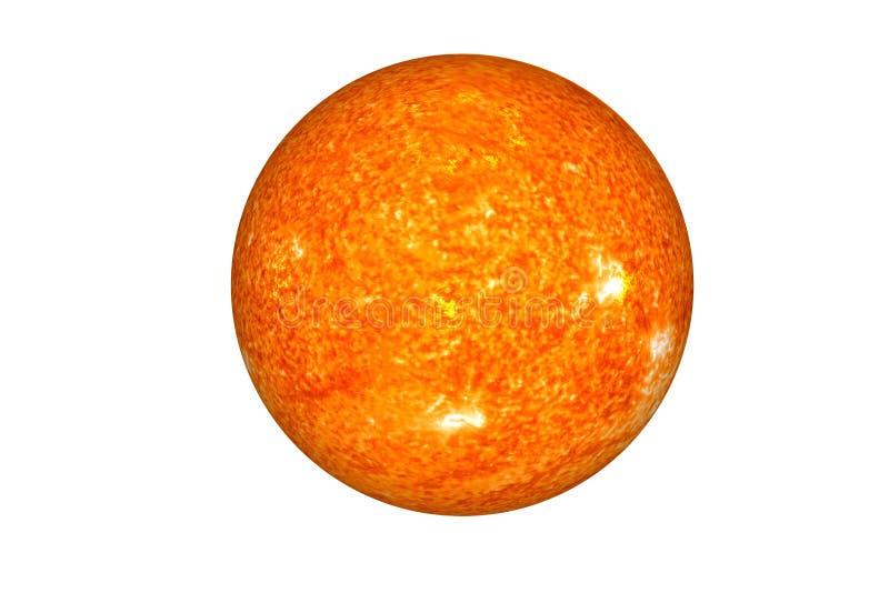 De zon De belangrijkste ster van geïsoleerd Zonnestelsel stock fotografie