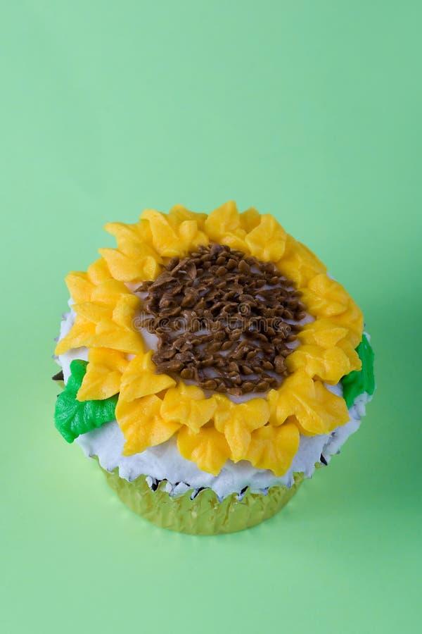 De zon bloeit cupcake royalty-vrije stock fotografie
