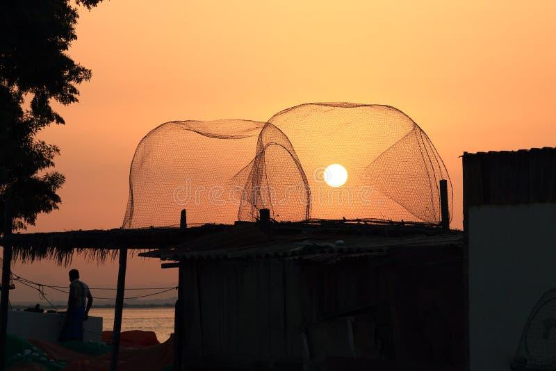 De zon in de val stock fotografie