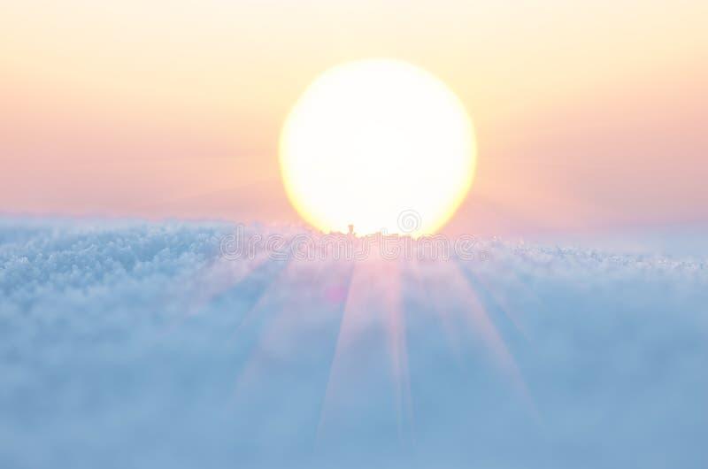 De zon in de winter stock foto's
