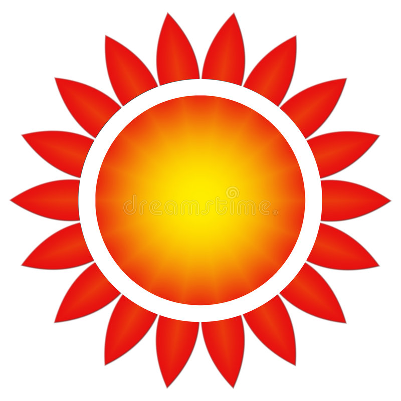 De zon in een bloem stock illustratie