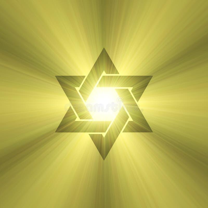 De zon lichte gloed van de jodenster royalty-vrije illustratie