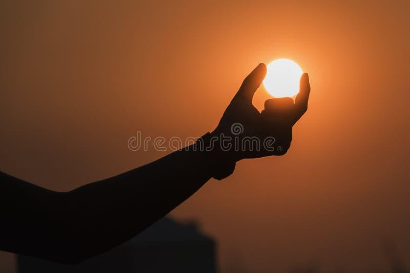 De zon ter beschikking stock afbeelding