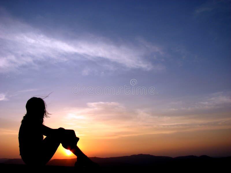 De Zon van de avond stock fotografie