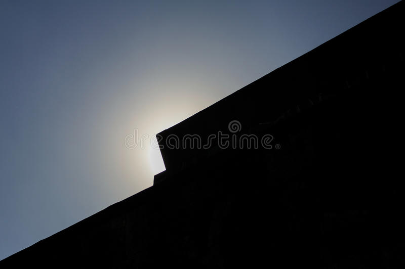 De zon van het Anahuacallimuseum over dak DF Mexico-City stock afbeeldingen