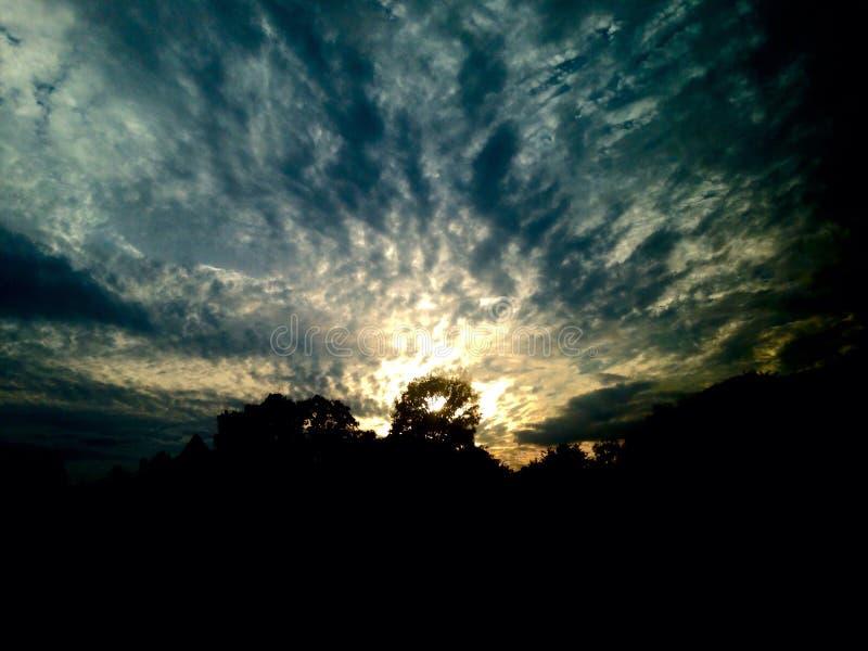 De zon van het heuvelland royalty-vrije stock foto's