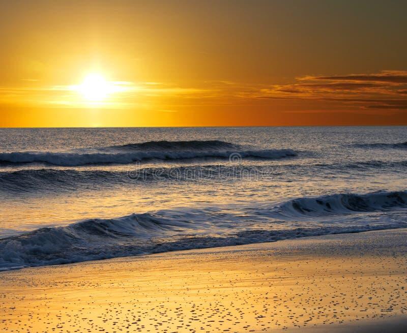 De zon van het strand stock afbeelding