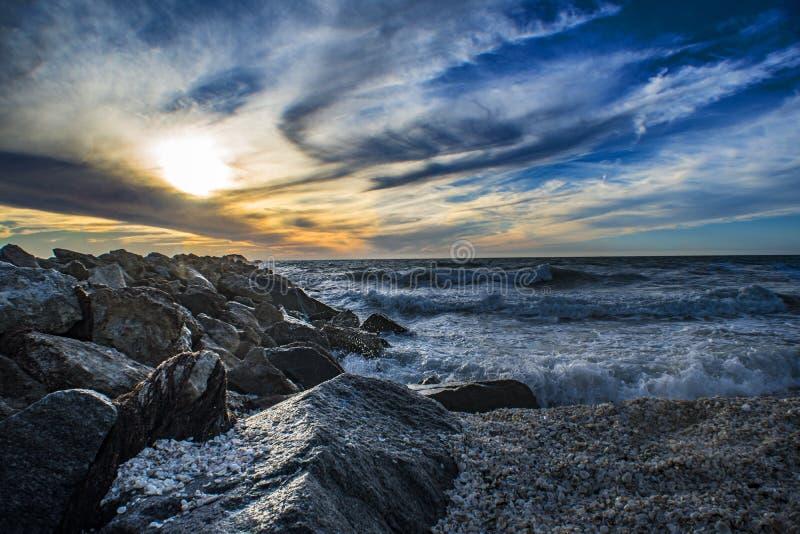 De zon van het strand royalty-vrije stock foto