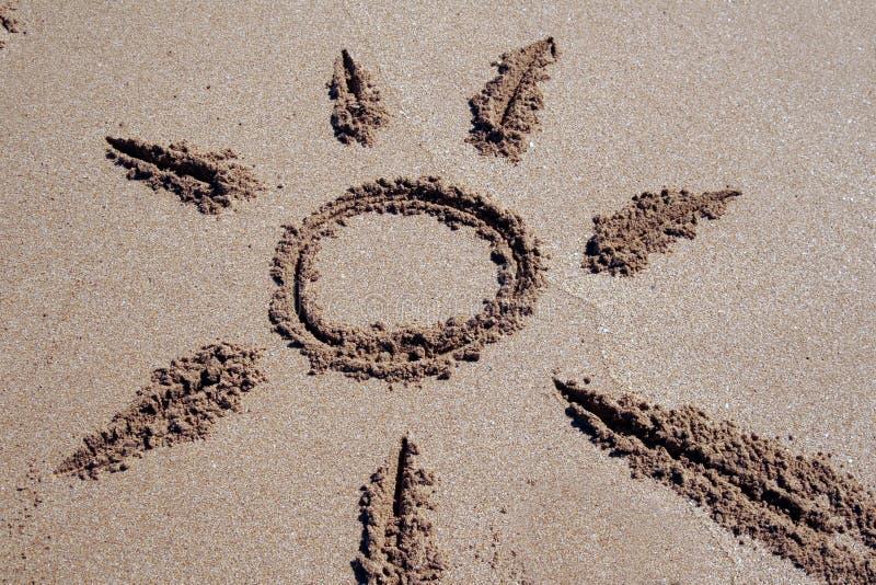 De Zon van het zand stock foto's