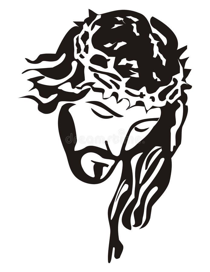 De zon van Jesus-Christus van de god stock illustratie