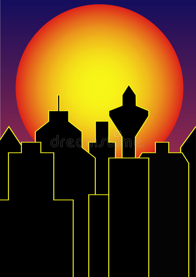 De zon zal ons slikken vector illustratie