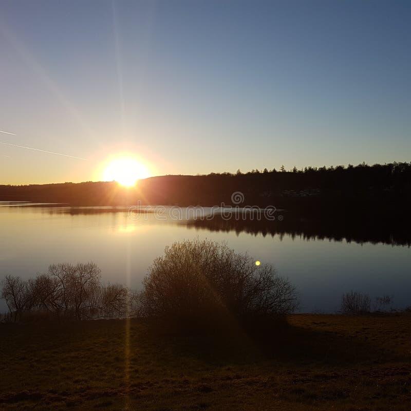 De zon ziet  royalty-vrije stock afbeelding