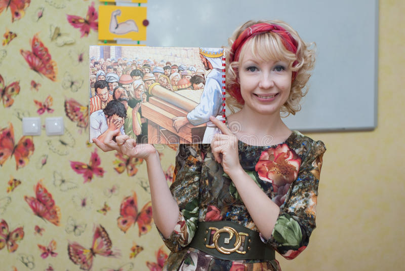 In de Zondagschool stock foto's