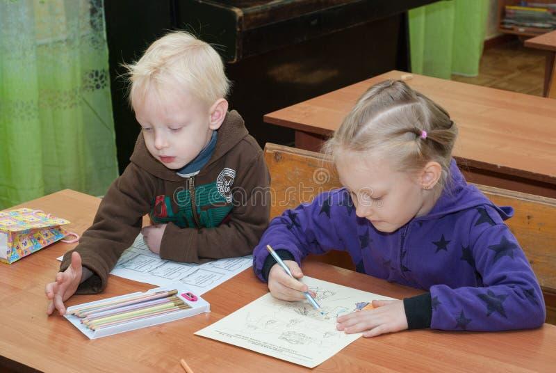 In de Zondagschool stock afbeelding