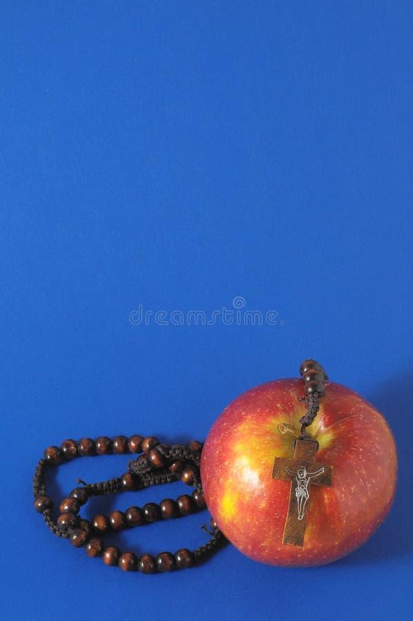 De Zonde Rood Apple van bijbeleva royalty-vrije stock foto's