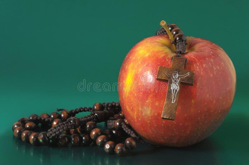 De Zonde Rood Apple van bijbeleva royalty-vrije stock fotografie