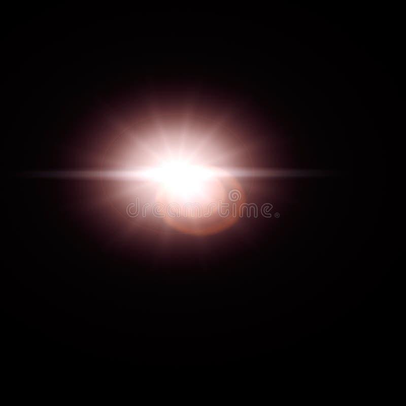 De zoneffect van de lensgloed stock afbeelding