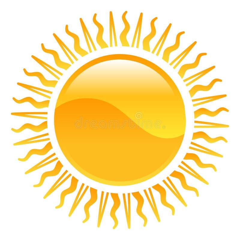 De zonillustratie van het weerpictogram clipart stock illustratie