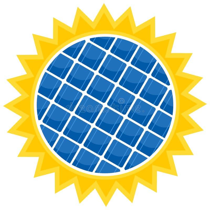 De zonnebatterij royalty-vrije illustratie