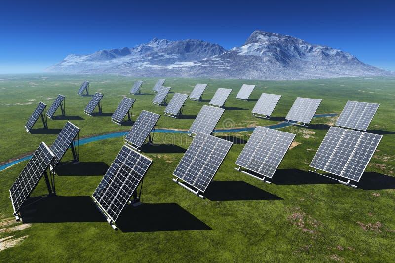 De zonnebatterij vector illustratie
