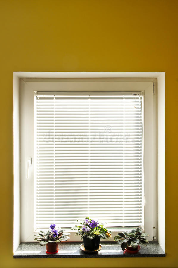 De zonneblinden van het venster stock fotografie