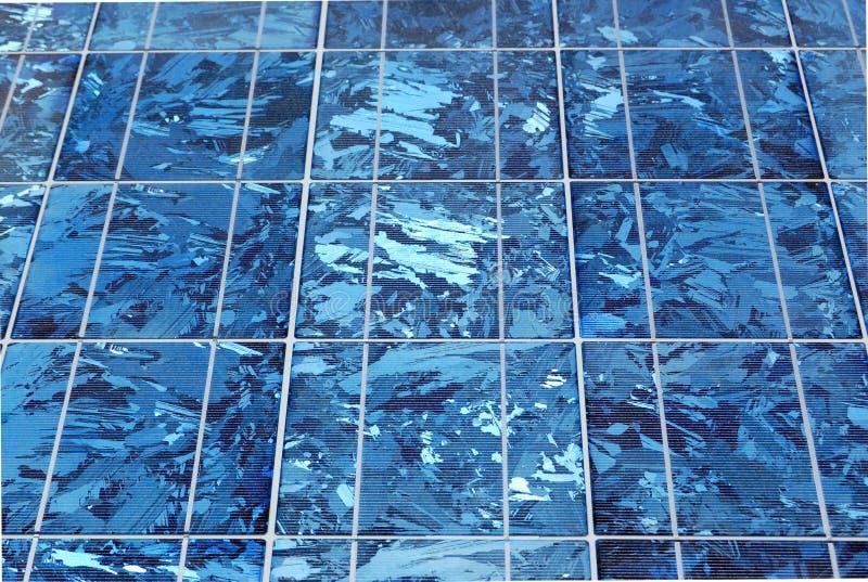 De zonnecel van Silicium, sluit omhoog stock foto