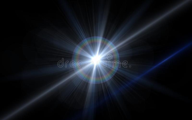 de zonnegevolgen van de lensgloed De abstracte Gloed van de cirkel Digitale lens, lensgloed, lichte lekken, Abstracte bekledingen vector illustratie