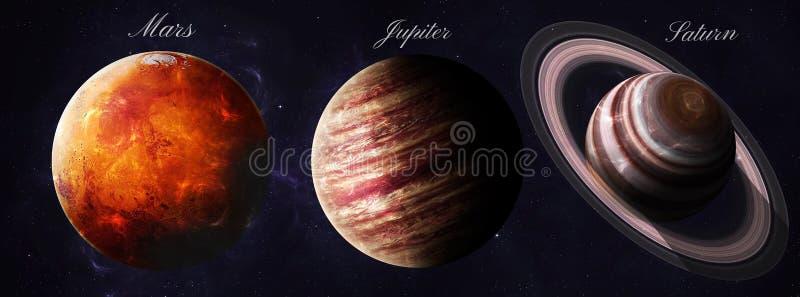De zonnestelselplaneten schoten van het ruimte tonen stock foto