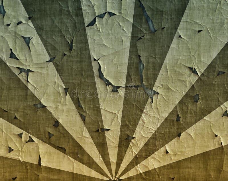 De zonnestraal van de wrok bij militaire camouflagekleuren royalty-vrije illustratie