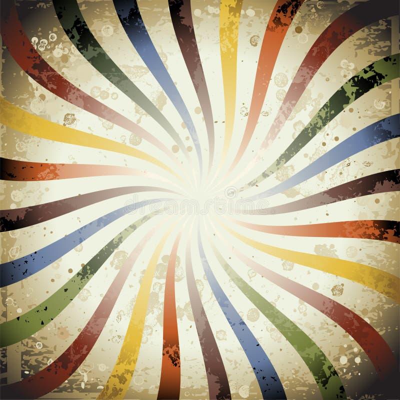 De Zonnestraal van Grunge van Swirly stock illustratie