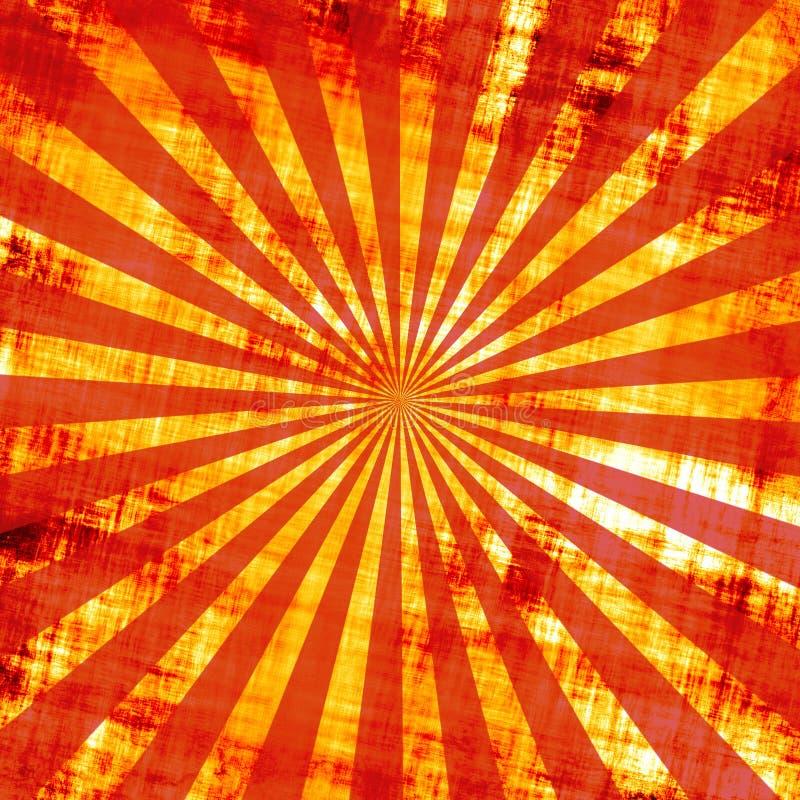 De Zonnestralen van Grunge royalty-vrije illustratie