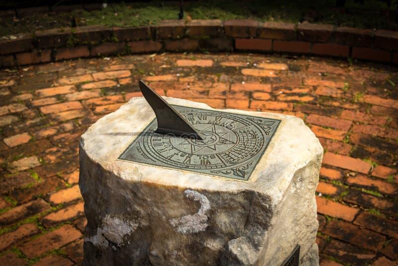 De zonnewijzer van de steen stock foto