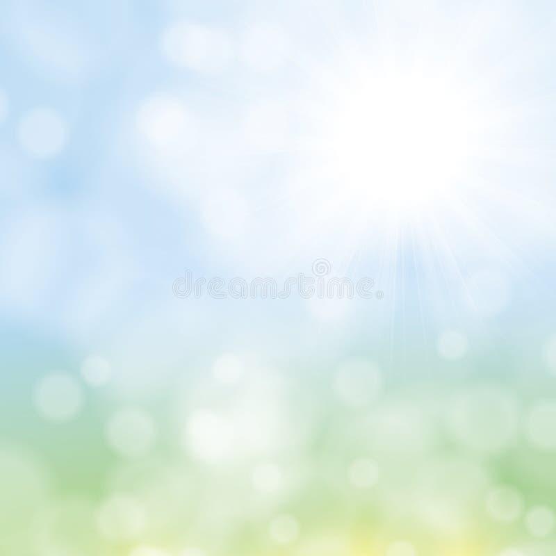 De zonnige abstracte achtergrond van de zonstraal